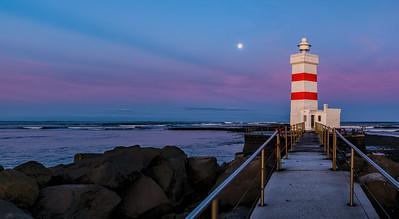 Morning Light of the Garður Old Lighthouse