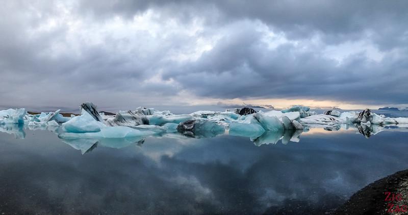 Reflets à Lagon Jokulsarlon Islande météo 2