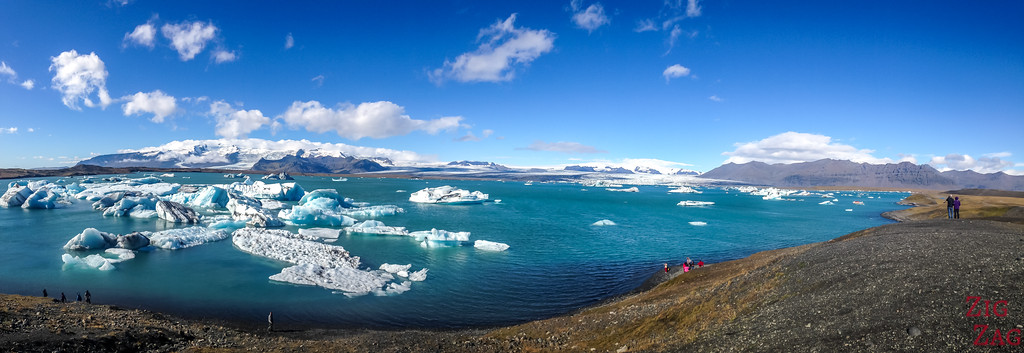 Jokulsarlan Lagoon with sunny weather photo 2