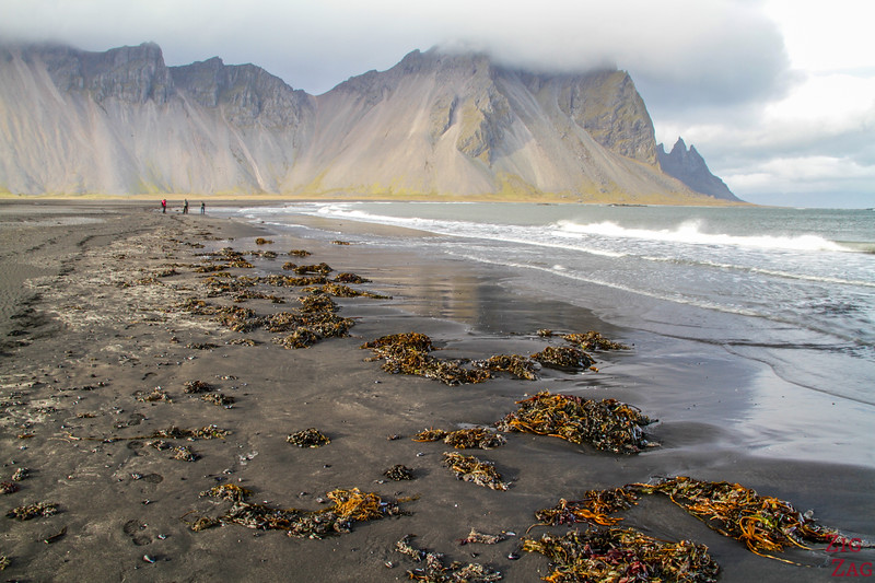 Black beach of Vestrahorn, Iceland