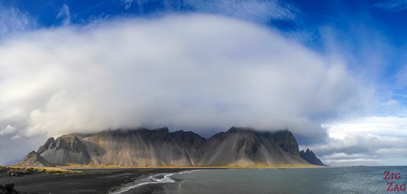 Huge cloud over Vestrahorn Mountain