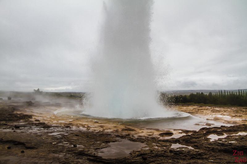Strokkur geyser in Summer