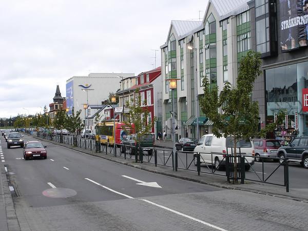 Laekjargata Street, downtown reykjavik