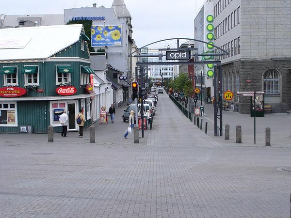 Aushurstraeti Street, downtown Reykjavik
