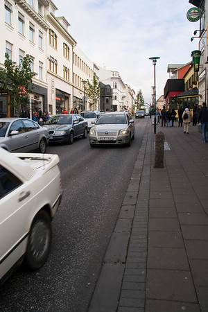 Laugavegur Street; the main shopping street
