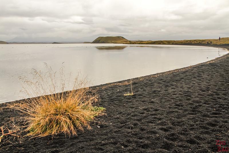 Lake Myvatn black beaches
