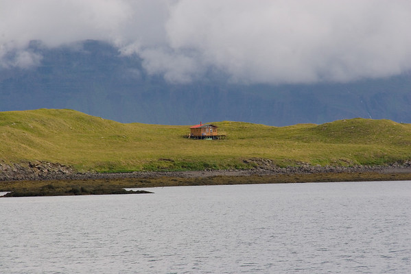Remote home in Breidhafjordhur Bay