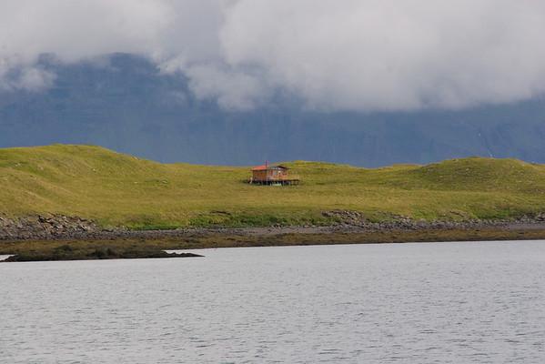 Remote home in Breidhafjordhur Bay