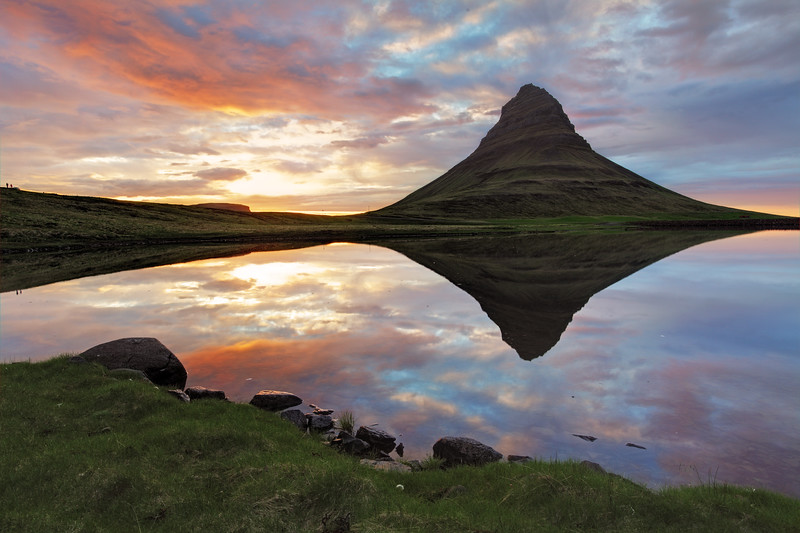Reflection of Mt Kirkjufell Iceland