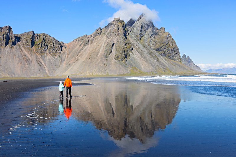 Vestrahorn beach reflection Iceland