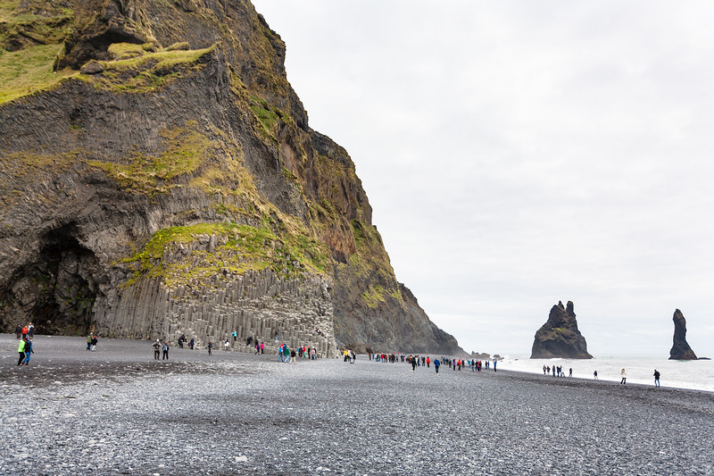 Reynisfjara Black Sand Beach Iceland sea stacks