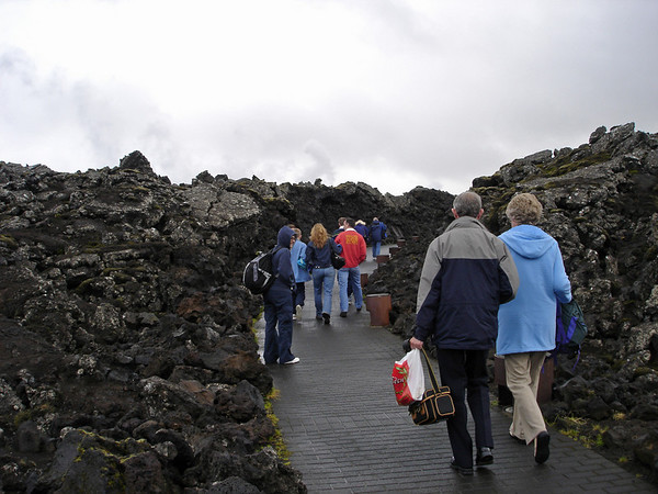 Lava rock entrance to Blue Lagoon