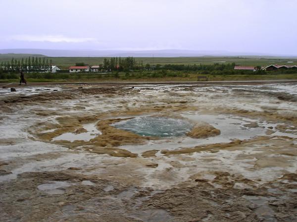Geysir about to erupt