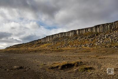 Gerðuberg Basalt Columns, Iceland