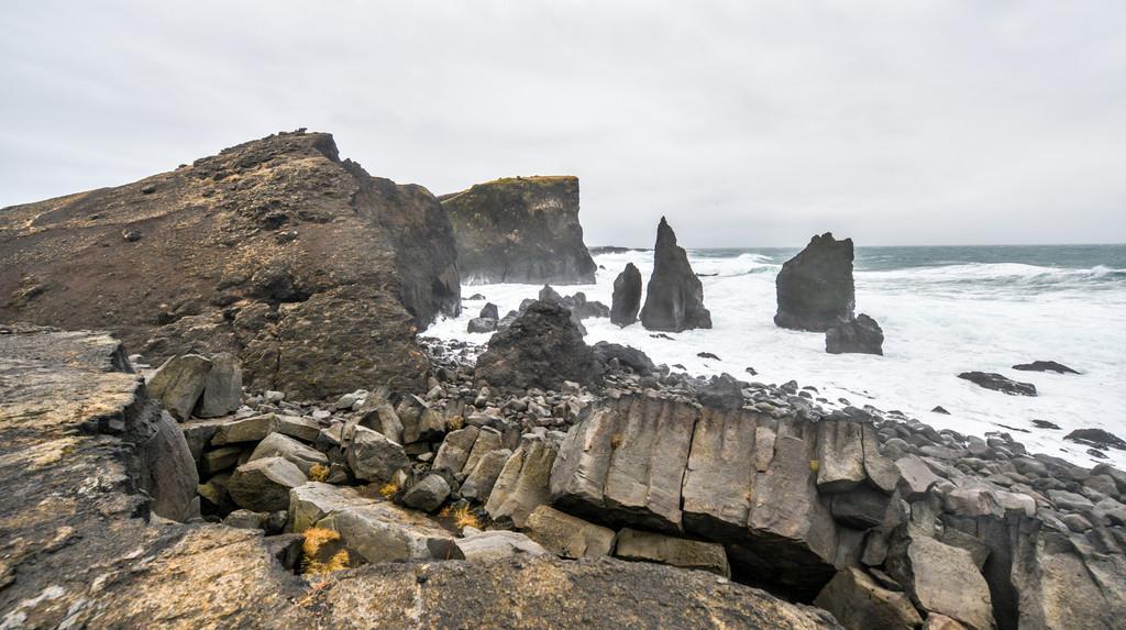 Rocky coast near Reykjanes, Iceland