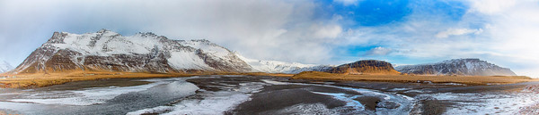 Panorama at Brunnavellir (south east) Iceland