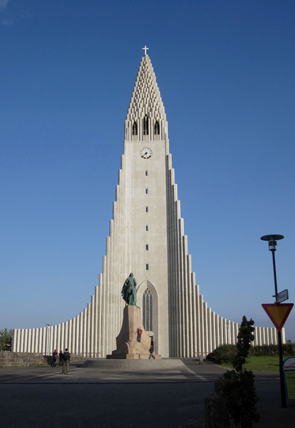 Hallgrímskirkja (Hallgrim's Church) in Reykjavik. You can see it for miles.