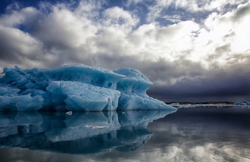 Blue ice and clouds