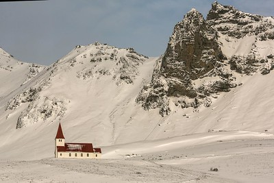 Church in Vik, Iceland. Perhaps the most photographed church in the area.