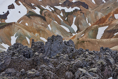 Lava Fields and Colourful Rhyolite Mountains