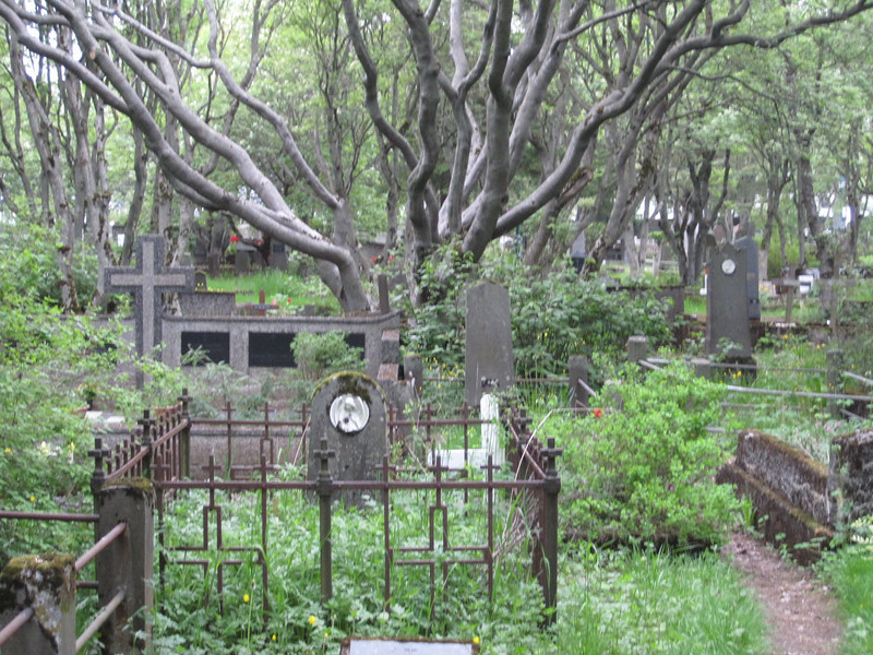 Old city cemetery.  Last stop on our ghost tour of Reykjavik.  Most of the photos came out blurry!