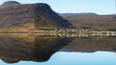 Looking across  Skutulsfjordur