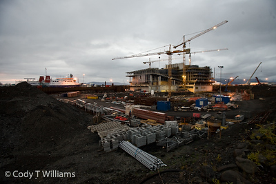 A contruction site near the Old Harbour of Reykjvik, Iceland. September, 2009 © Cody T Williams.
