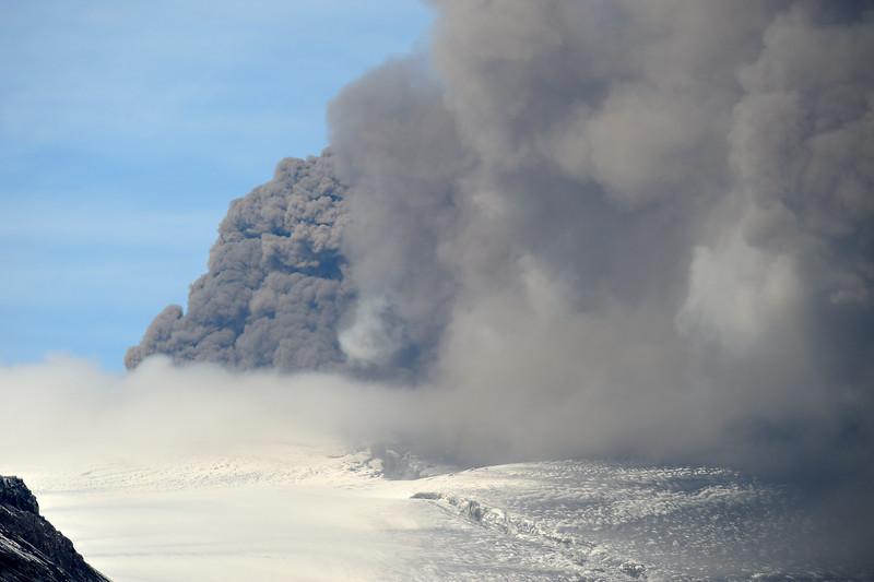 Volcano in Eyjafjallajökull. May 1. 2010