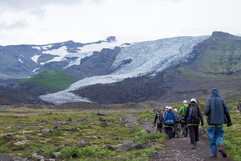Onto a glacier