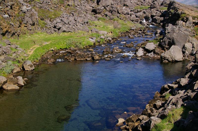 Drekkingarhylur (Drowning Pool) where women were drowned as punishment.  Men were beheaded.