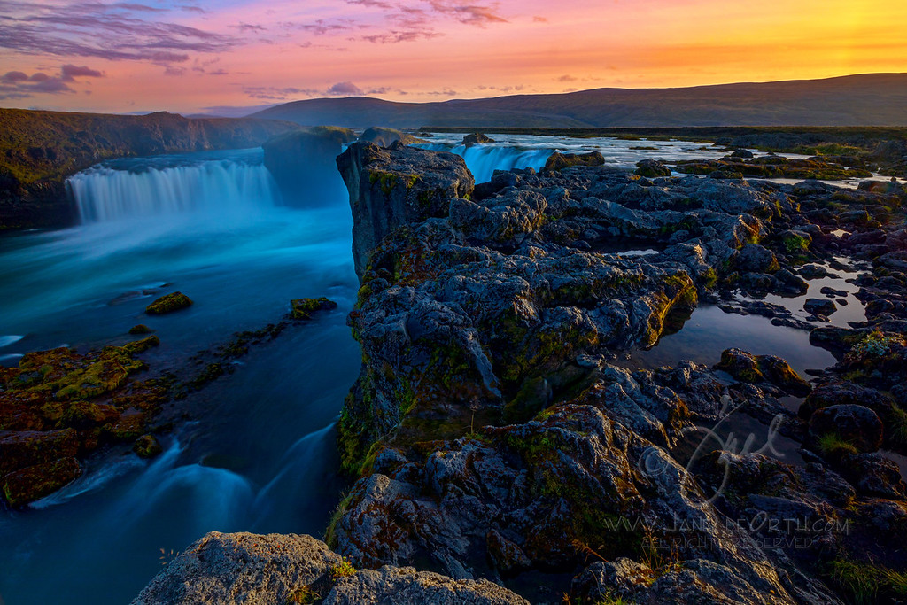Godafoss Afterglow  ©2018  Janelle Orth