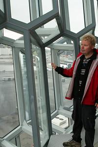 Jón, our guide, explains the structure. - Copyright (c) 2014 Daniel Noe