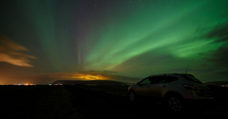 Northern lights near Selfoss