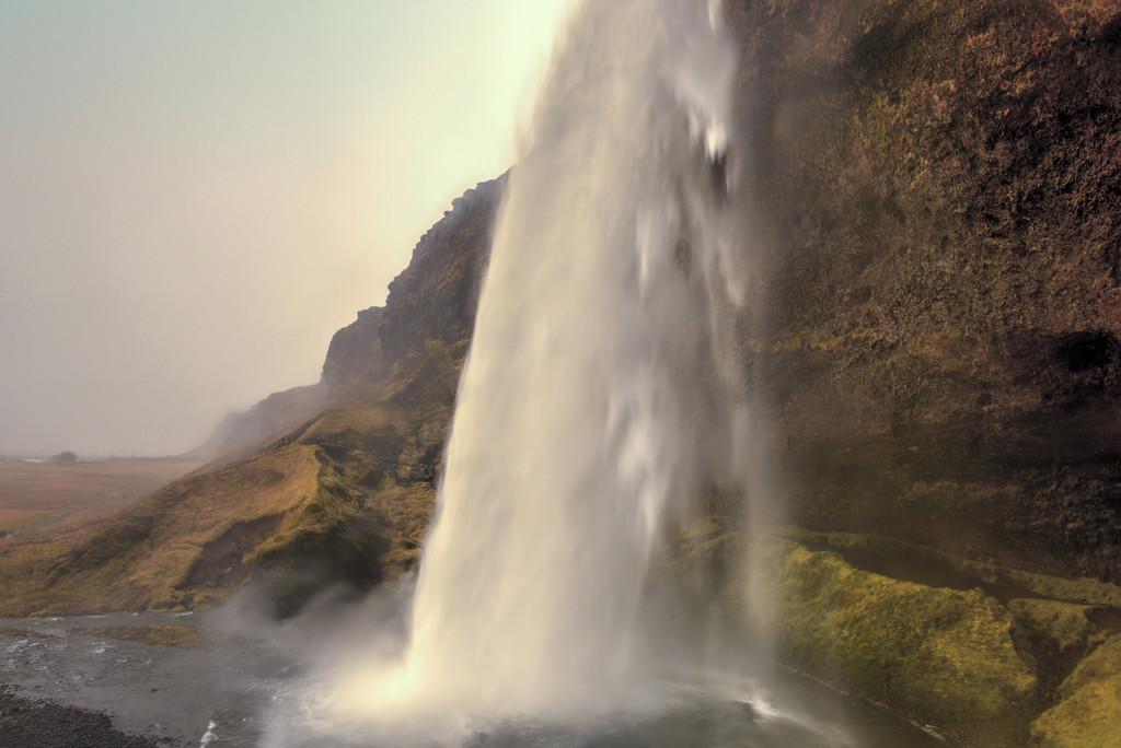 Seljalandsfoss, Iceland from Behind