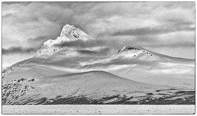Skaftafell mountain in sunlight