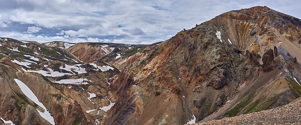 2 Panel Panorama of Colourful Rhyolite Mountains