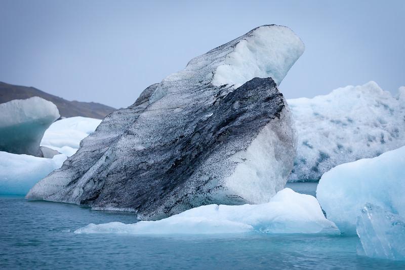 Iceberg fragment on Jökulsárlón lagoon, South Iceland
