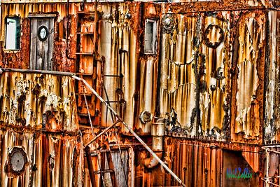 Rusty Ship in Reykjavik Harbor, Iceland