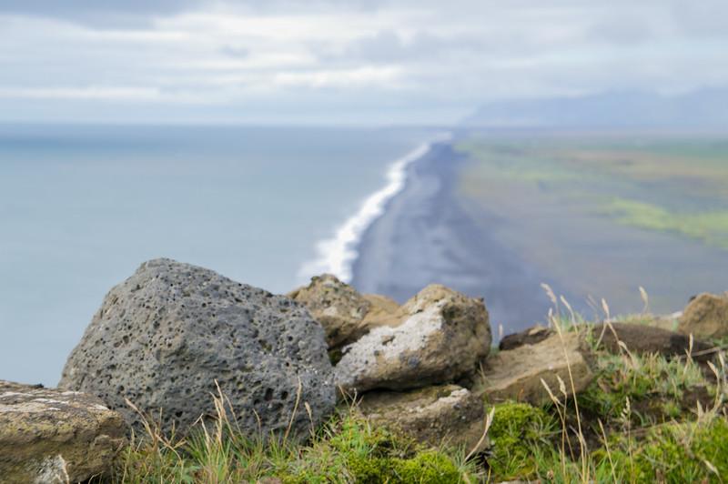 View from cliff near Vík í Mýrdal Iceland.