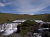 Skogafoss upper falls, Iceland.