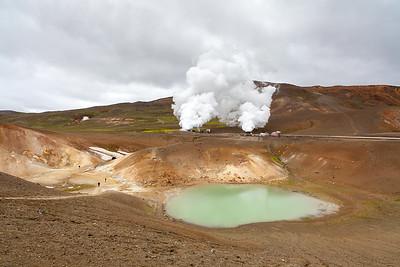 Landscape near Viti crater in Krafla, North Iceland