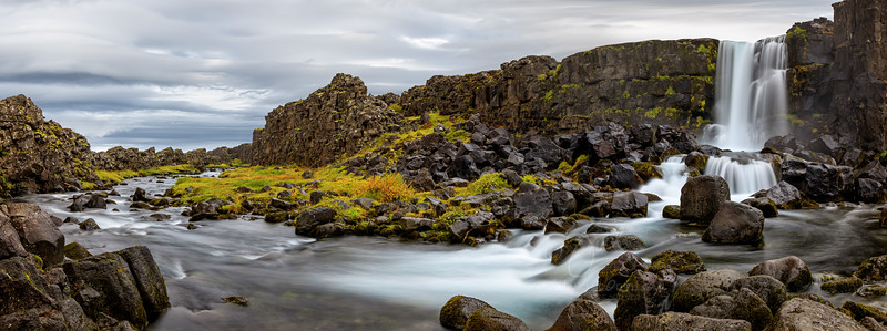 Oxararfoss Panorama  ©2018  Janelle Orth