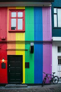 Side street in Reykjavik, Iceland