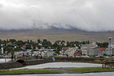 View of town of Akureyri