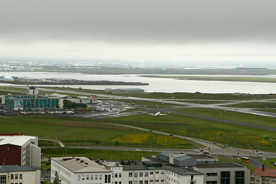 Reykjavík City airport with an old DC-3. - Copyright (c) 2014 Daniel Noe