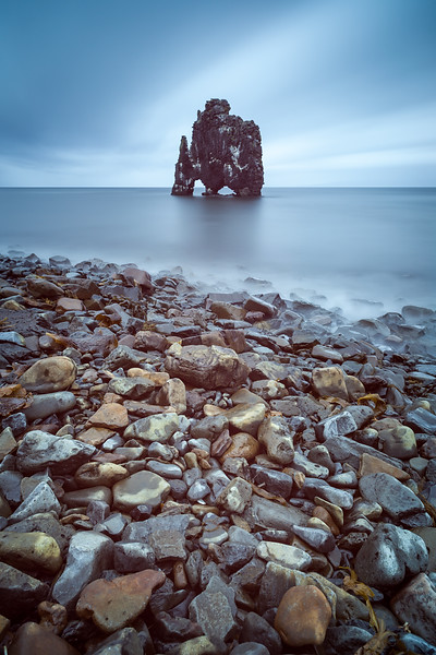 Rock with shape of dragon, Hvítserkur, Iceland