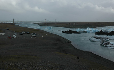 river leaving Jokulsarlon