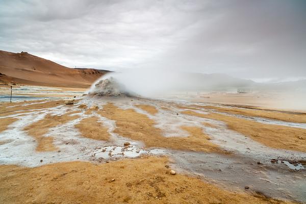 Hverarönd - active volcanic area near Myvatn lake, North Iceland