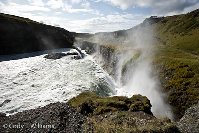 The Gullfoss waterfall running down the Hvítá river originating in the Langjökull glacier, Iceland. September, 2009 © Cody T Williams.