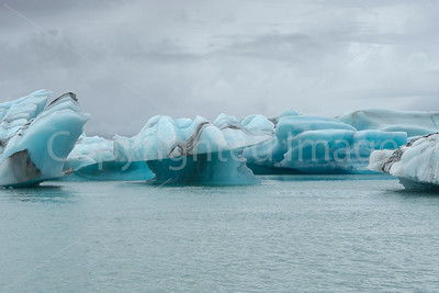In Jokulsarlon a glacial lagoon
